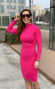 Pink garbóruha hosszú ujjal-IRT21