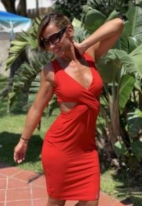 Szexi nyári ruha pirosban-PR16