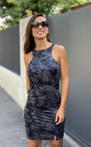 Ujjatlan ruha fekete/ezüst-PR22